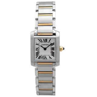 Pre-owned Women's Tank Francaise Two-tone Cartier Watch|https://ak1.ostkcdn.com/images/products/12205587/P19052605.jpg?impolicy=medium