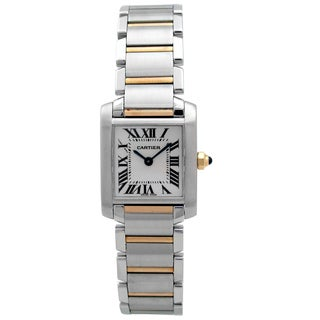 Pre-owned Women's Tank Francaise Two-tone Cartier Watch