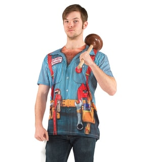 NA 'Faux Real Plumber' Polyester T-shirt