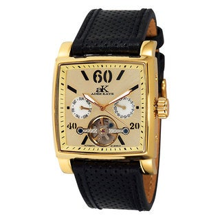 Adee Kaye Beverly Hills AK9043 Goldtone Stainless-steel Open Heart Automatic Men's Watch