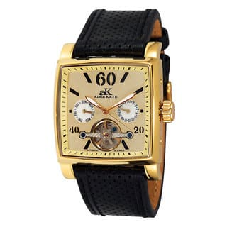 Adee Kaye Beverly Hills AK9043 Goldtone Stainless-steel Open Heart Automatic Men's Watch|https://ak1.ostkcdn.com/images/products/12205598/P19052647.jpg?impolicy=medium