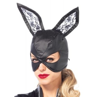 Leg Avenue Black Polyester Bunny Mask