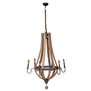 Bramble Co. Chateau Driftwood Medium Candelabra Chandelier