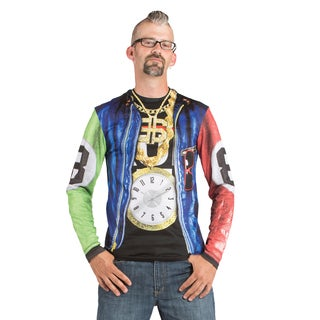 Faux Real Old School Rapper Polyester Long-sleeved T-shirt