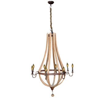 Bramble Co. Chateau Driftwood Large Candelabra Chandelier