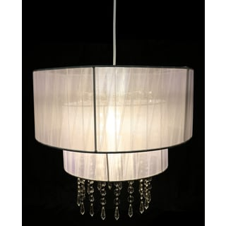Eluana White Fabric Acrylic 16-inch 1-light Chandelier