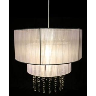 Eluana White Fabric Acrylic 16-inch 1-light Chandelier