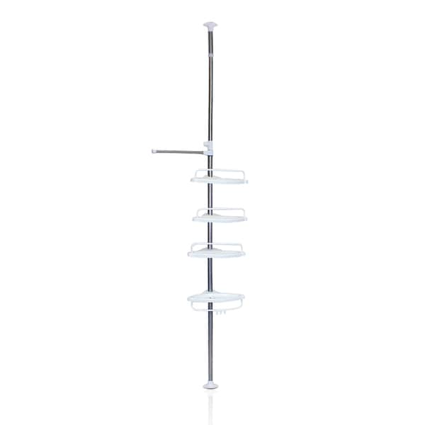 Furinno Yijin Bathroom Tub And Shower Tension Pole Caddy