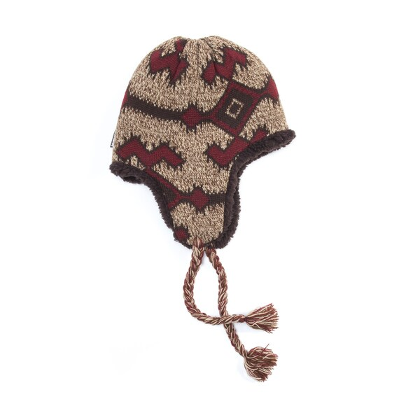 0c801b5780956 Shop Muk Luks Acrylic  Polyester Faux Fur Tribal Beanie - Free Shipping On Orders  Over  45 - Overstock.com - 12205637