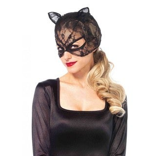 Black Polyester Cat Mask
