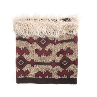 Muk Luks Women's Acrylic/ Polyester Faux Fur Tribal Funnel Hat