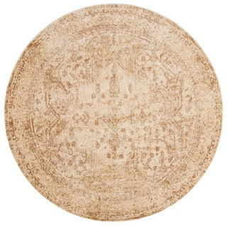 Contessa Ivory/ Light Gold Rug (9'6 x 9'6 Round)