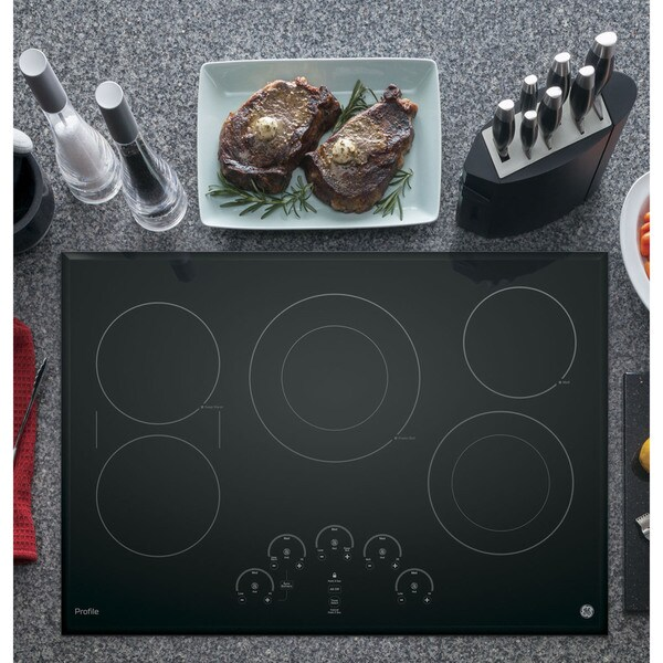 GE Profile Black Ceramic/Metal 30-inch Smoothtop Electric Cooktop