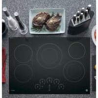 GE Profile Black Ceramic/Metal 30-inch Smoothtop Electric Cooktop