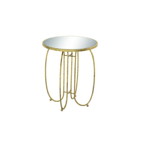 Metal Mirror Accent Table 20 Inches Wide X 24 Inches High