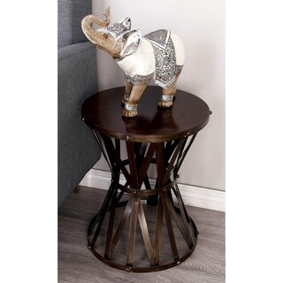 Metal Distressed Grey Accent Table (14 inches wide x 18 inches high)
