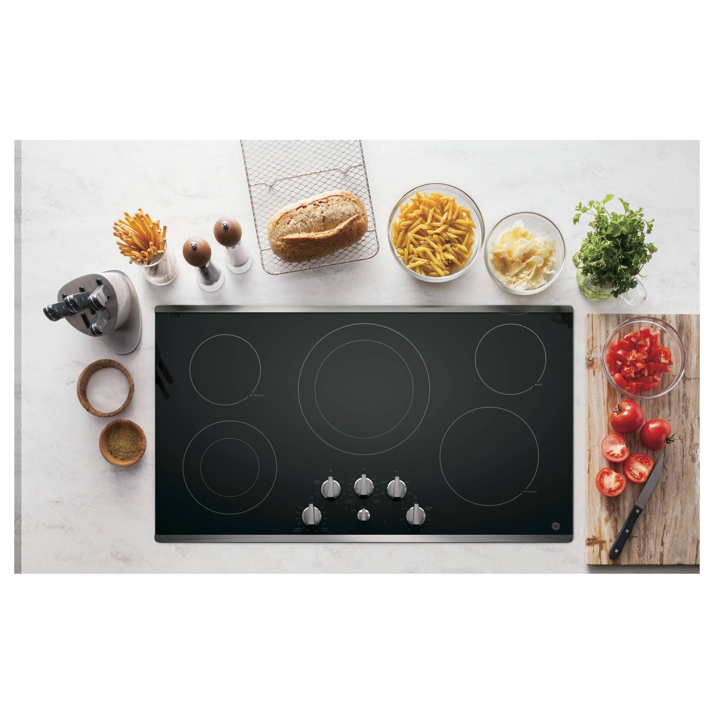 GE 36-inch Smoothtop Electric Cooktop (White) (Ceramic)