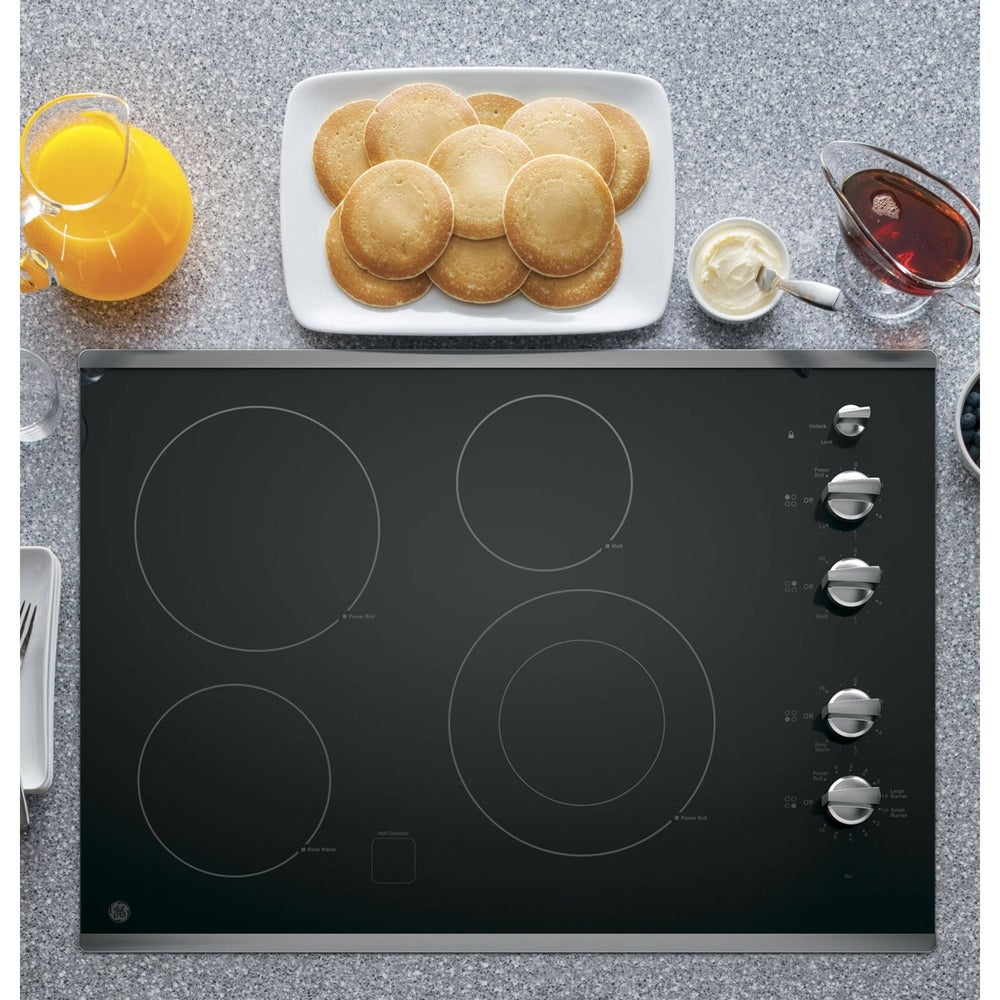 GE  Ceramic/Metal 30-inch Smoothtop Electric Cooktop (White)