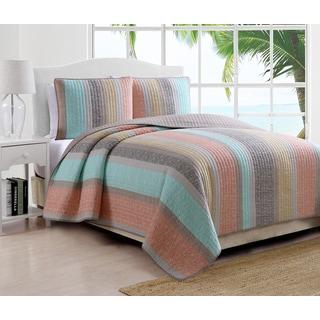 Estate Brea Pastel Striped 3-piece Quilt Set