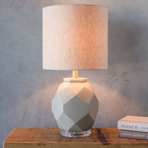 Burbank Light Grey Distressed Table Lamp