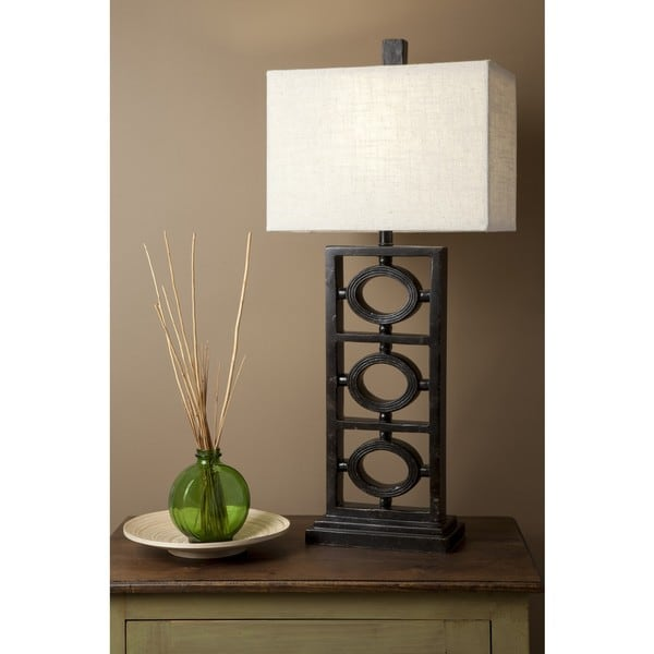 Glint Table Lamp with Antique Resin Base