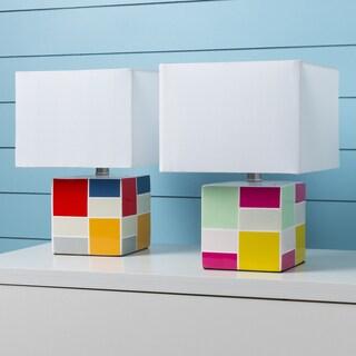 Goussainville Table Lamp with Glazed Ceramic Base