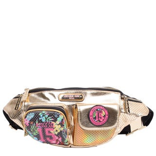 Nicole Lee Numeric Gold 15 Print Fanny Pack