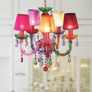 Eabha 5-light Multi-colored 36-inch Acrylic Chandelier