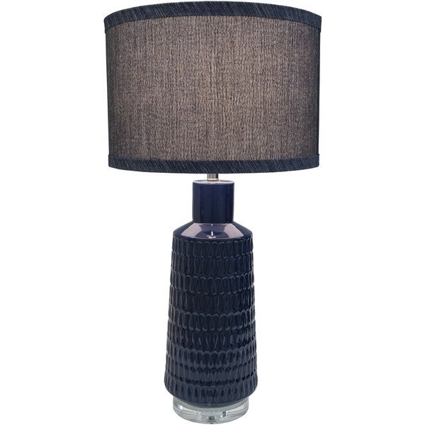 Hazebrouck Table Lamp with Glazed Ceramic Base