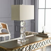Hilton Table Lamp with Natural Finish Crystal Base