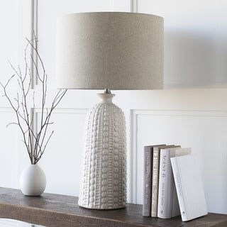 Hollywood Table Lamp with Glazed Ceramic Base