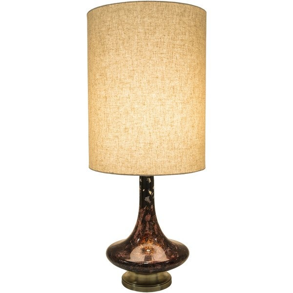 Kamora Table Lamp with Painted Glass Base