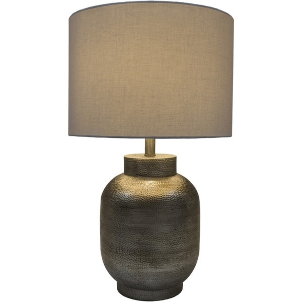Korolevu Table Lamp with Pewter Finish Resin Base