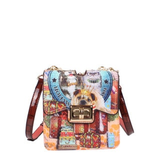 Nicole Lee World Tour Print Chain Mini Crossbody Handbag