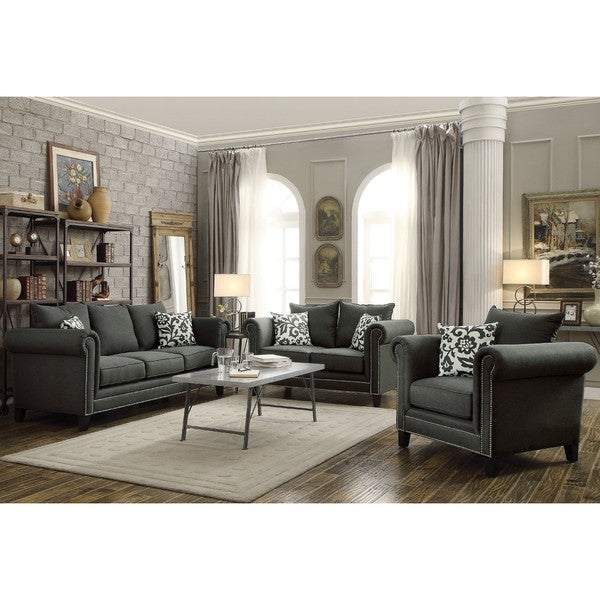 Traditional Living Rooms Furniture Fabric: Shop Traditional French Design With Nailhead Trim Living