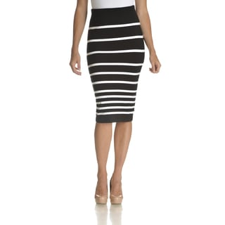 Chelsea & Theodore Women's Striped Pencil Skirt