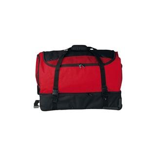 Goodhope Red Rolling Drop-Bottom Duffel Bag