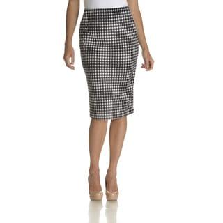 Chelsea & Theodore Women's Houndstooth Skirt