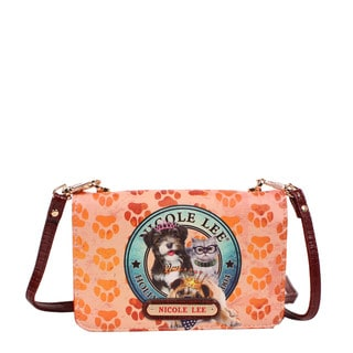Nicole Lee World Tour Signature Print Mini Crossbody Wallet/Mini Handbag
