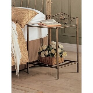 Beautiful Leather Bed Side Table