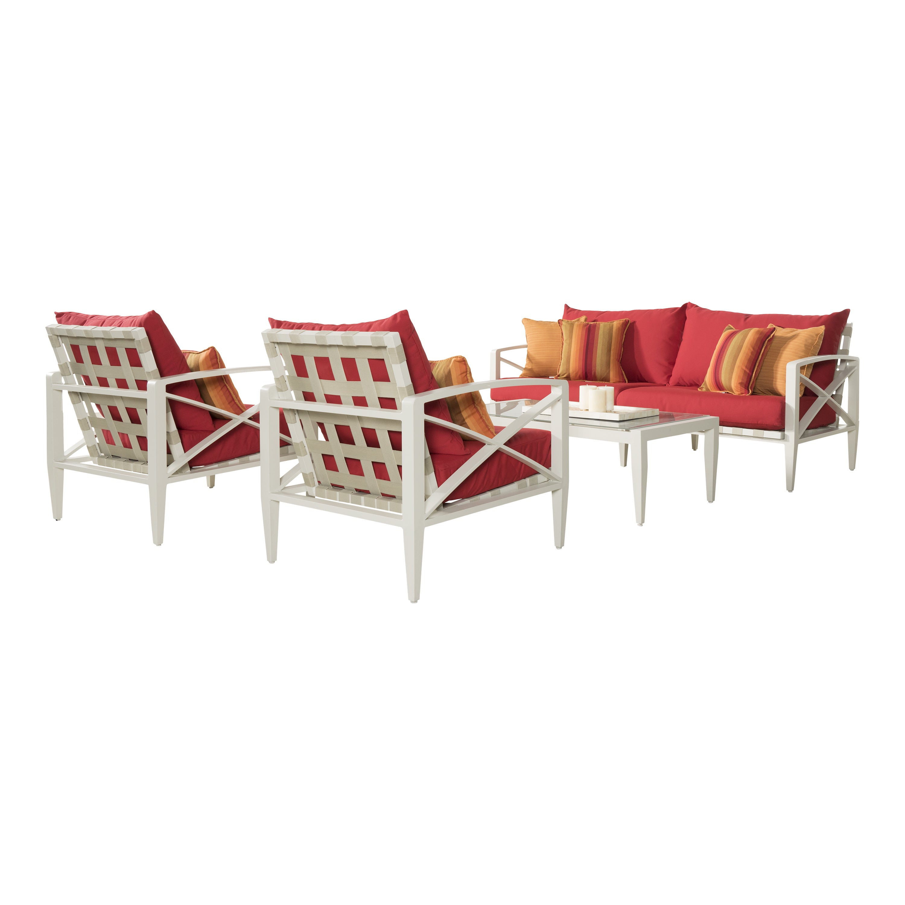 Rst Brands Knoxville Sunset Red Cushion