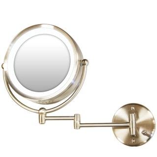 Satin Nickel Lighted Mirror Wall Mount