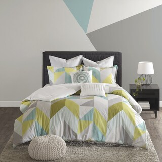 Urban Habitat Parker Aqua Cotton Printed 7-piece Comforter Set