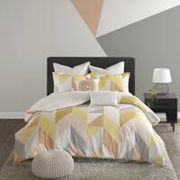 Urban Habitat Parker Orange Cotton Printed 7-piece Comforter Set