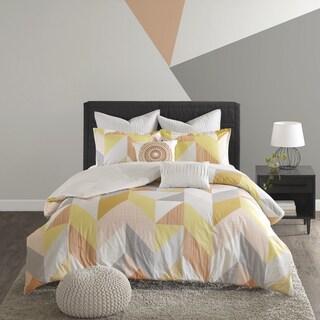 Carson Carrington Reykjavik Orange Cotton Printed 7-piece Comforter Set