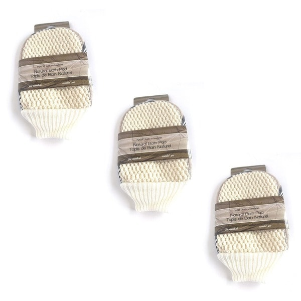 Rucci Jacquard Bath Mitt (Pack of 3)