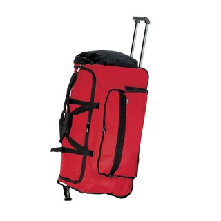 Goodhope Red Polyester 30-inch Rolling Duffel Bag