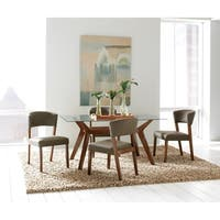Coaster Company Glass Top Wood Rectangle Dining Table