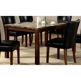 Coaster Company Veneer Marble Cherry Finish Dining Table