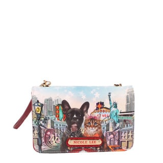 Nicole Lee City Drive Signature Print Crossbody Wallet/Mini Handbag